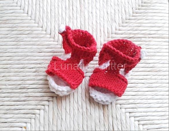 Red summer sandals